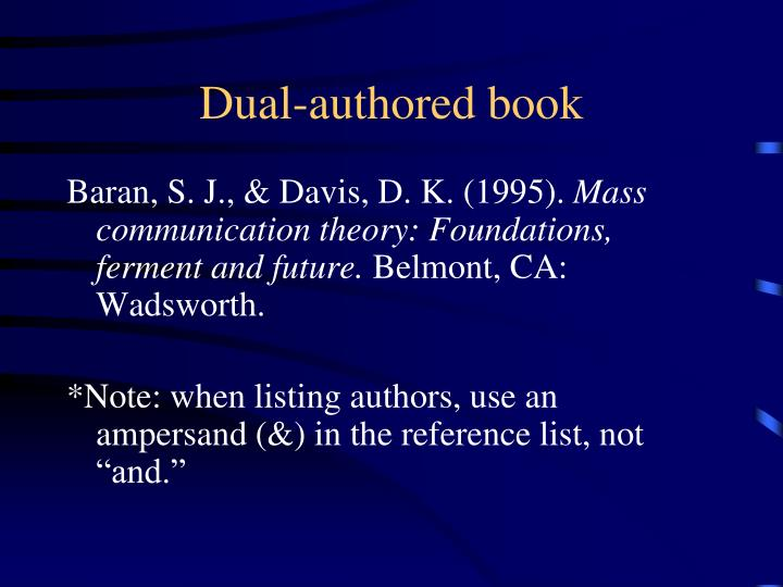 Dual-authored book