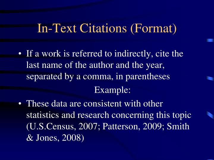 In-Text Citations (Format)