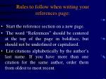 rules to follow when writing your references page