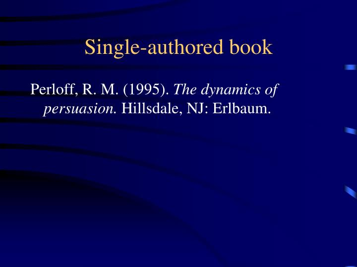 Single-authored book