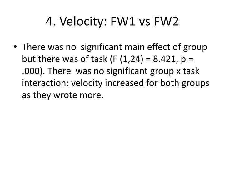 4. Velocity: FW1 vs FW2