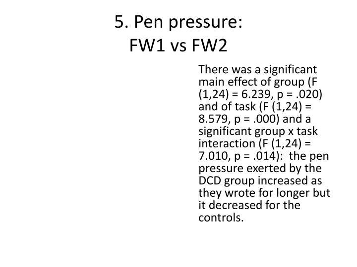 5. Pen pressure: