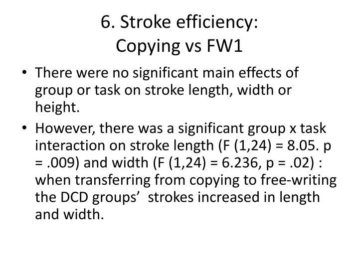 6. Stroke efficiency: