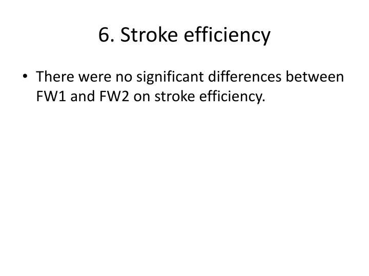 6. Stroke efficiency