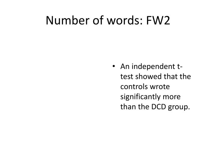 Number of words: FW2