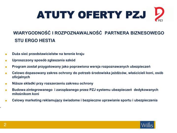 ATUTY OFERTY PZJ
