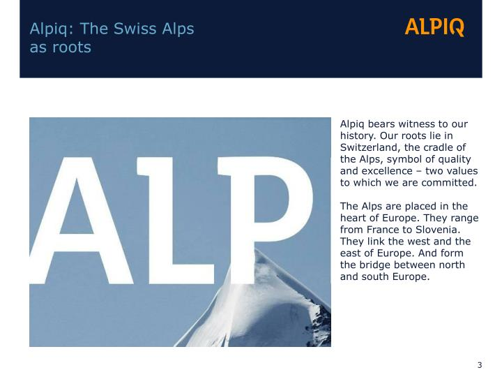 Alpiq: The Swiss Alps