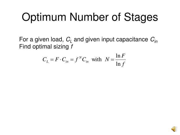Optimum Number of Stages