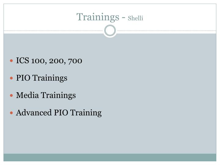 Trainings -