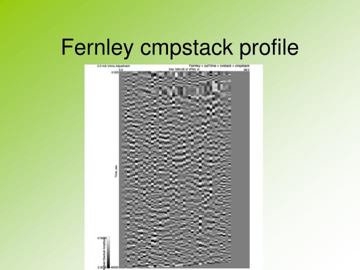 Fernley cmpstack profile