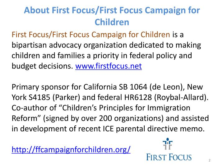 About First Focus/First Focus Campaign for Children