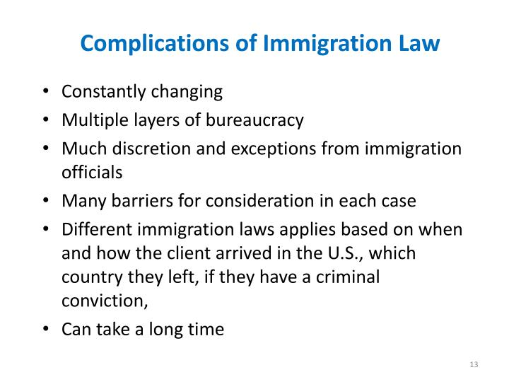 Complications of Immigration Law