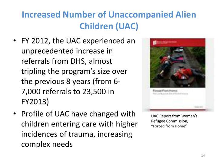 Increased Number of Unaccompanied
