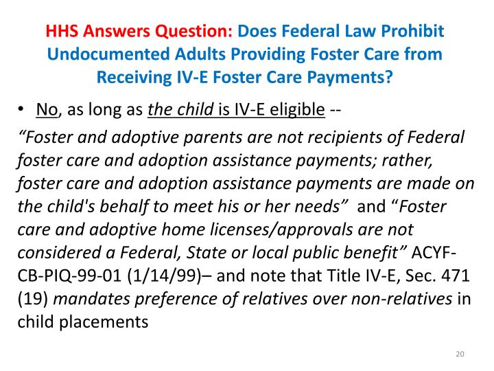 HHS Answers Question: