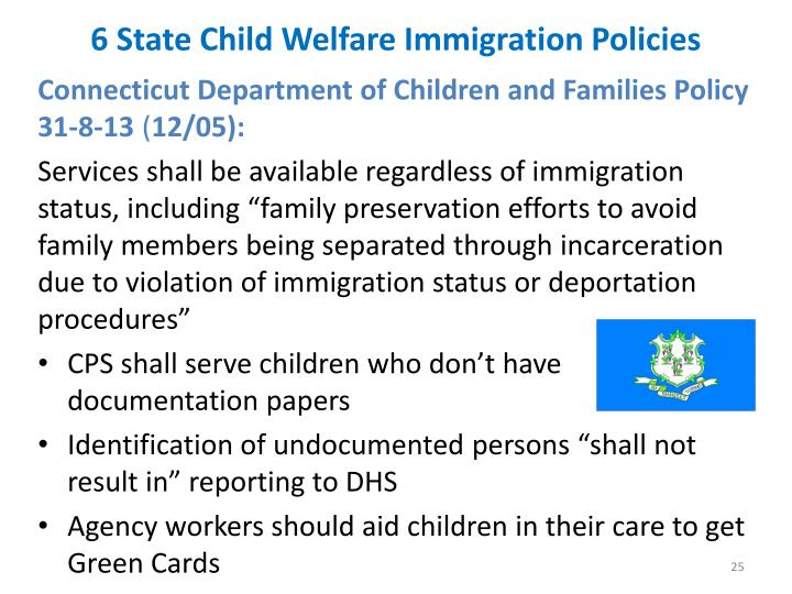 6 State Child Welfare Immigration Policies