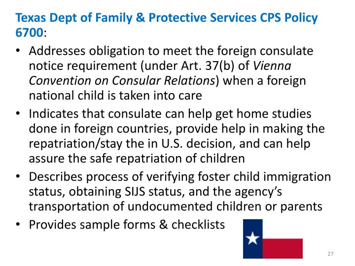 Texas Dept of Family & Protective Services CPS Policy 6700