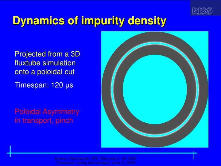 Dynamics of impurity density