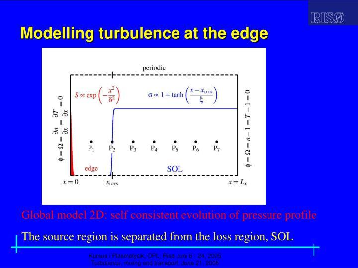Modelling turbulence at the edge