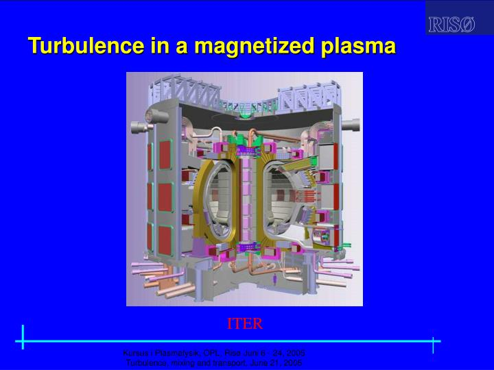 Turbulence in a magnetized plasma