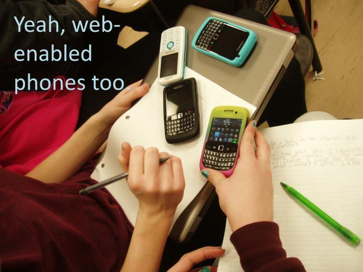 Yeah, web-enabled phones too.