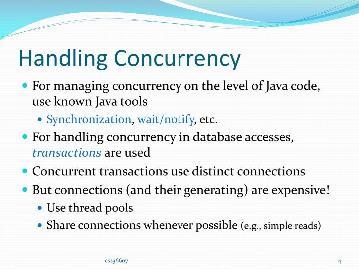 Handling Concurrency