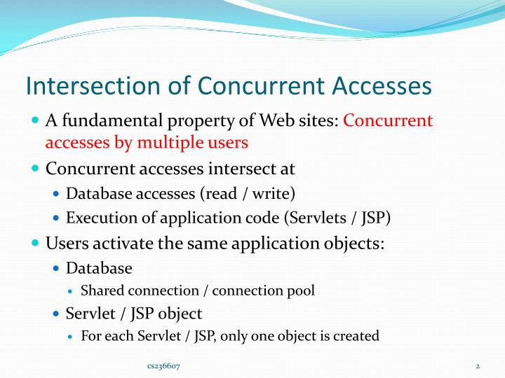 Intersection of concurrent accesses