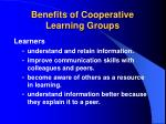 benefits of cooperative learning groups