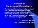 definition of professional competence