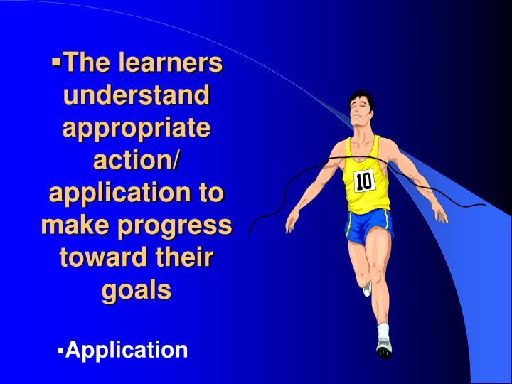 The learners understand appropriate action/