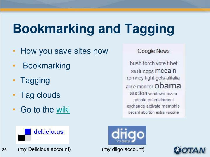 Bookmarking and Tagging