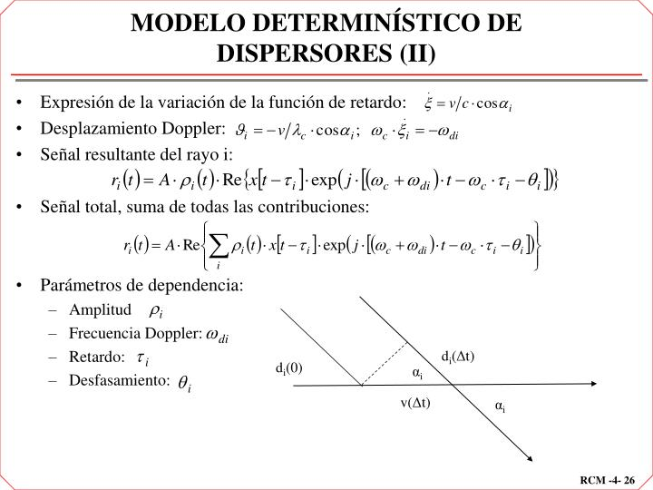 MODELO DETERMINÍSTICO DE DISPERSORES (II)