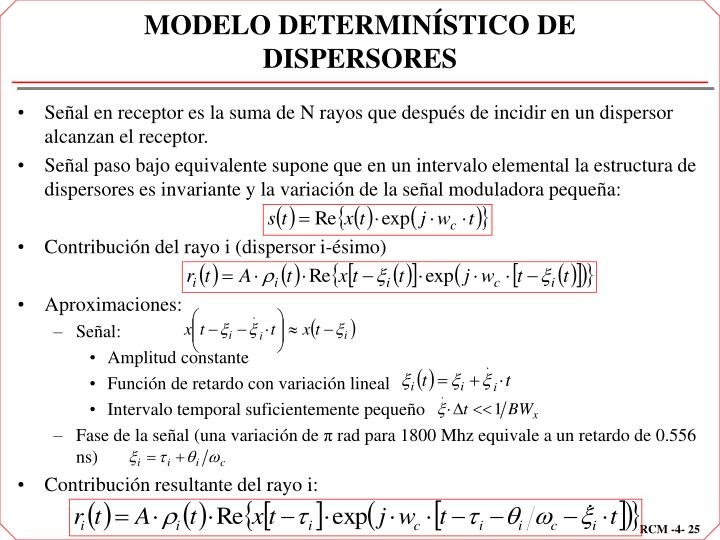 MODELO DETERMINÍSTICO DE DISPERSORES