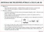 sistemas de telefon a p blica celular ii