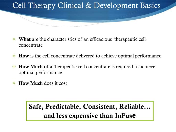 Cell Therapy Clinical & Development Basics