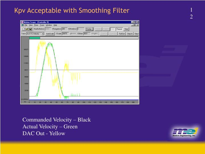 Kpv Acceptable with Smoothing Filter