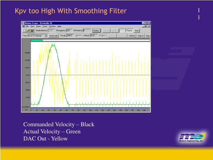 Kpv too High With Smoothing Filter