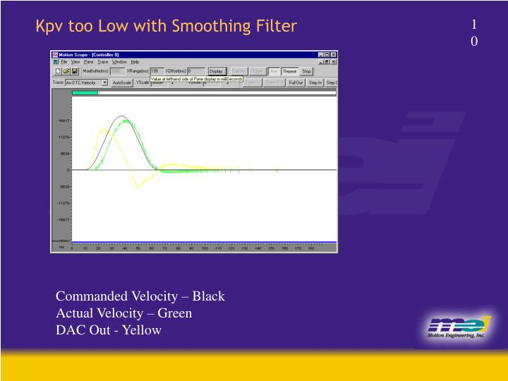 Kpv too Low with Smoothing Filter