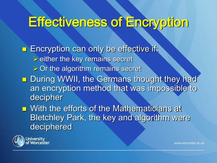 Effectiveness of Encryption