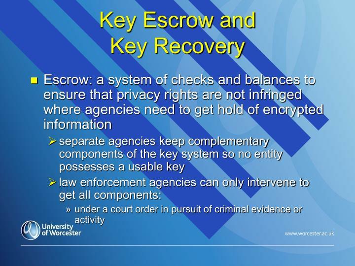 Key Escrow and
