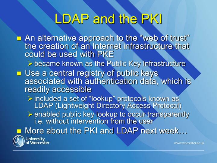 LDAP and the PKI
