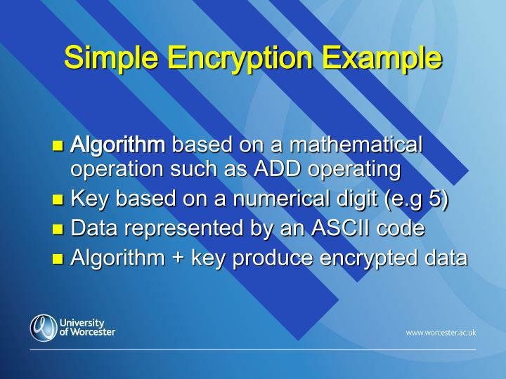 Simple Encryption Example