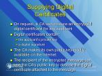 supplying digital certificate s