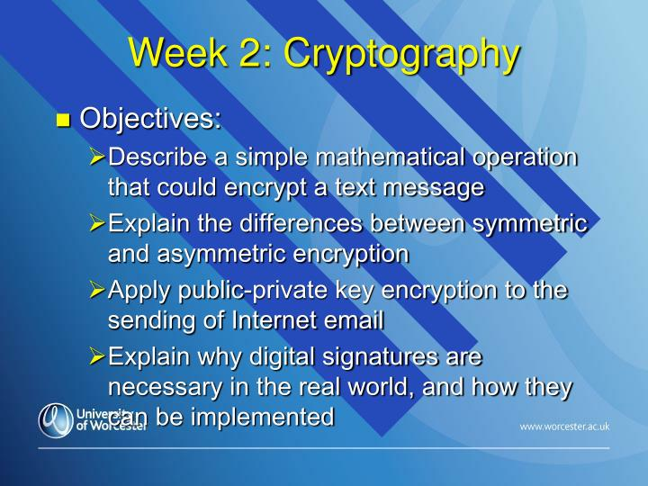 Week 2: Cryptography