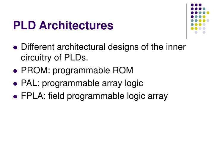 PLD Architectures