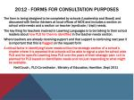 2012 forms for consultation purposes
