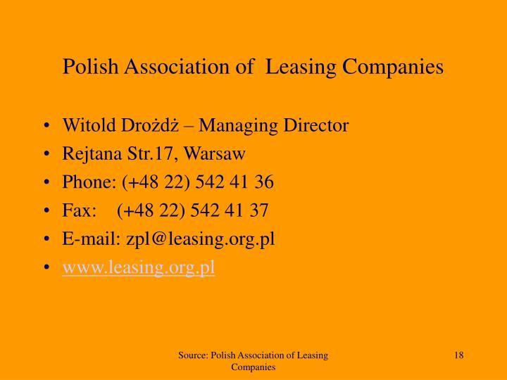 Polish Association of  Leasing Companies
