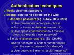 authentication techniques