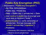 public key encryption pke