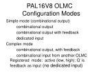 pal16v8 olmc configuration modes