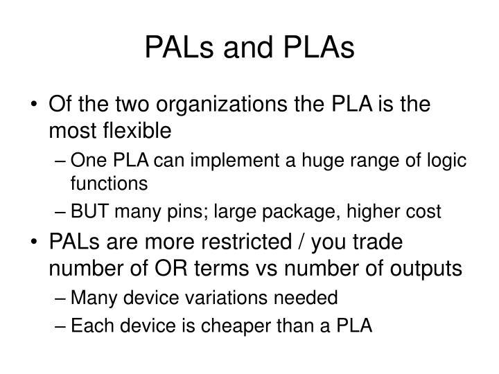 PALs and PLAs